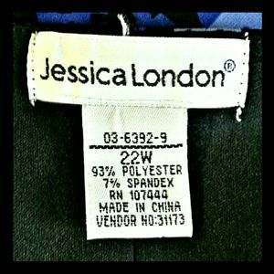 Jessica London Dresses - Jessica London Ruched  Dress Black Purple Size 22W